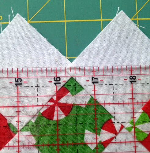 Cut 1/4'' above the coloured points