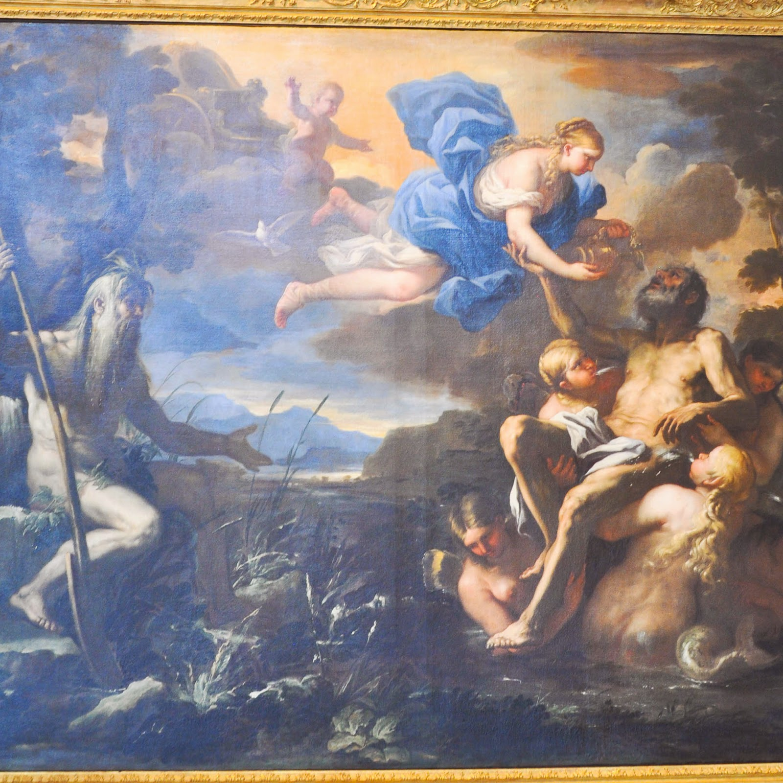 Aeneas Made Immortal by Venus painting Luca Giordano Civic Art Gallery Palazzo Chiericati Vicenza Italy
