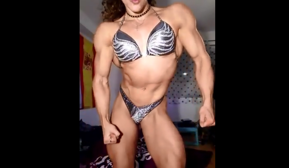 Video Fit girl solid muscles Female Bodybuilder