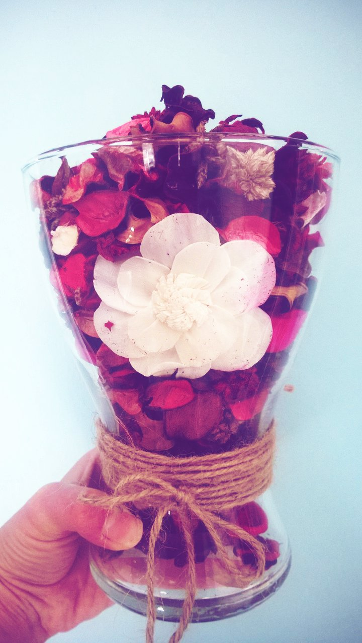 Recycled Flower Vase : Pot Pourri Holder