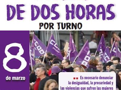 CCOO y UGT convocan el 8 de marzo huelga de dos horas por turno