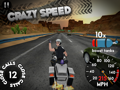 Highway Rider v1.6.1 Mod Unlimited Boosts APK Racing Games Free Download