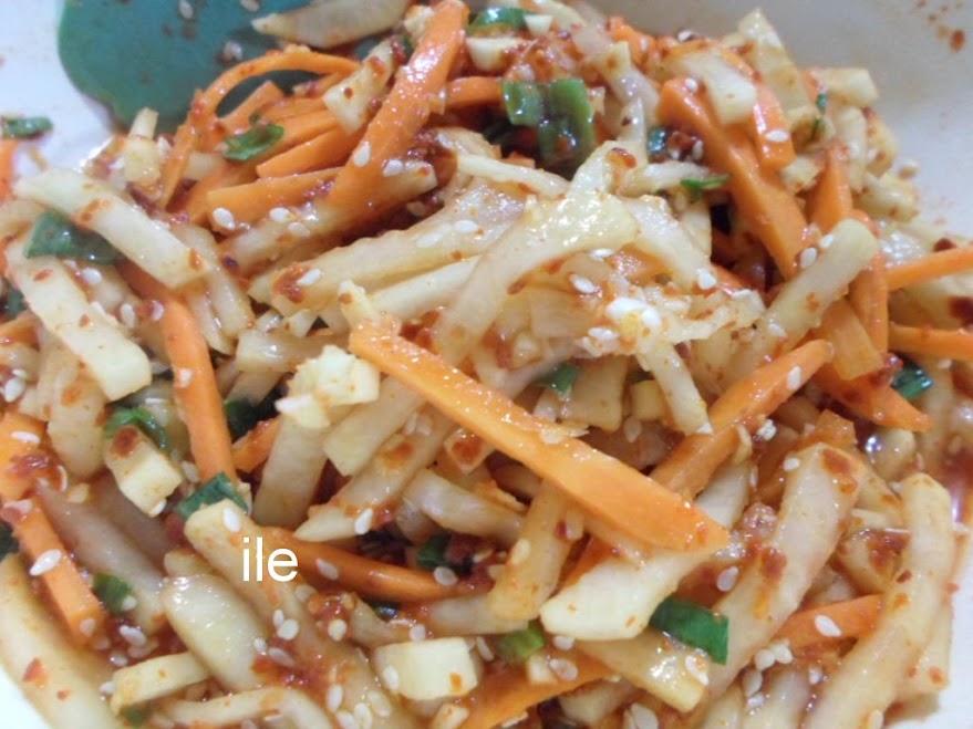 Pickles de nabo y zanahoria receta coreana recetas de cocina - Encurtido de zanahoria ...