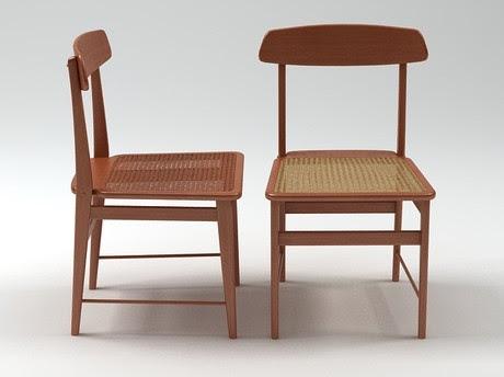 [3Dsmax] 3D model free - Lucio chair 1956