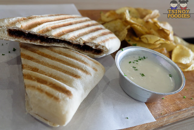 dark choco cheese panini