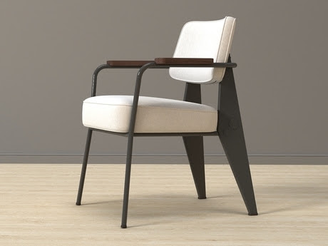 [3Dsmax] 3D model free - Fauteuil Direction 1951