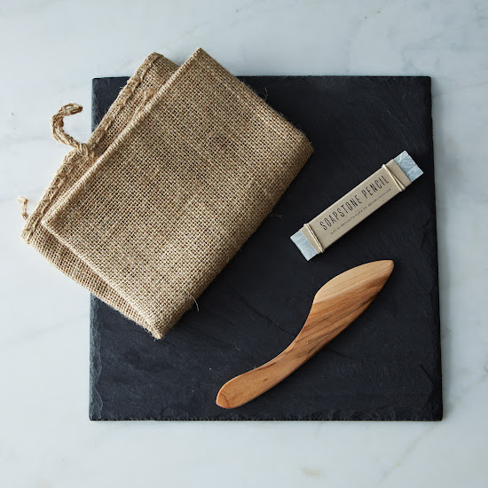Brooklyn Slate Cheese Board, Knife, and Soapstone Pencil Set | Provisions by Food52