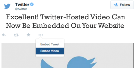Excellent! Twitter-Hosted Video Can Now Be Embedded On Your Website : eAskme