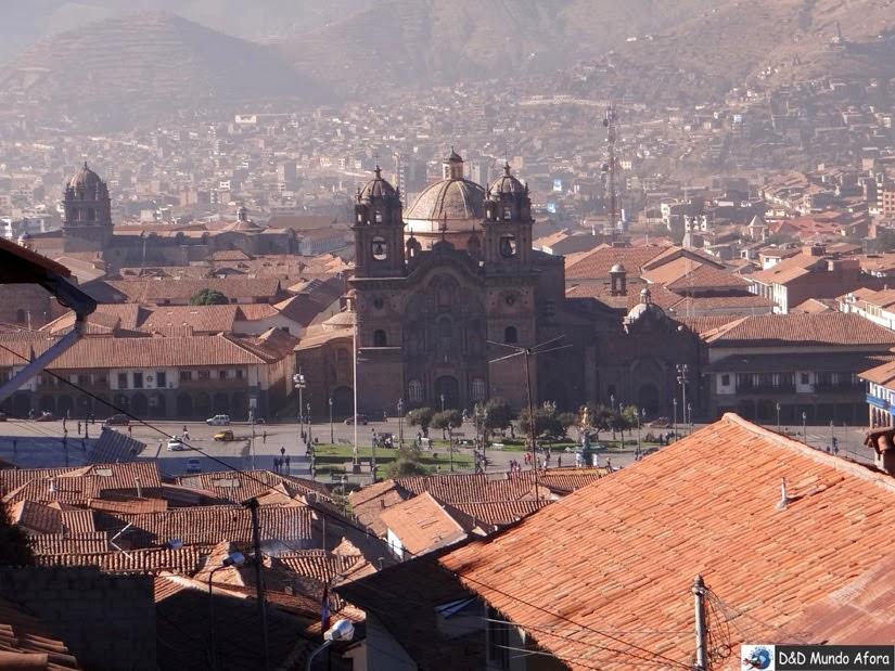Centro de Cuzco - vista lá do hotel - O que fazer em Cusco (Peru)