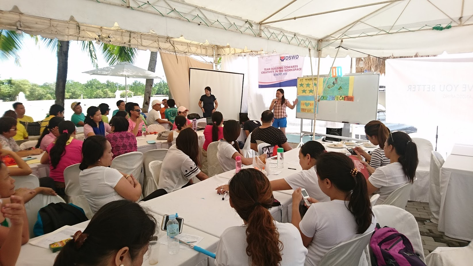 Department of Social Welfare and Development or DSWD Cebu 2016 team building in Lapulapu City Mactan Island Cebu Central Visayas Philippines