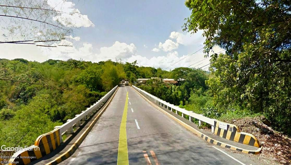 Sabang Bridge in the present day.  Image courtesy of Google Earth Street View.