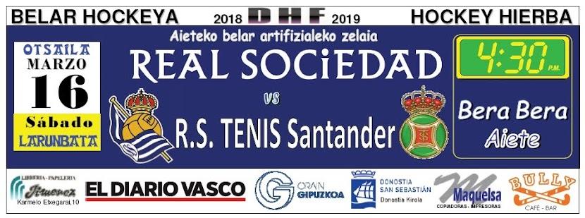 Faldon DV 2019-03-16 Real Sociedad - R.S. Tenis Santander