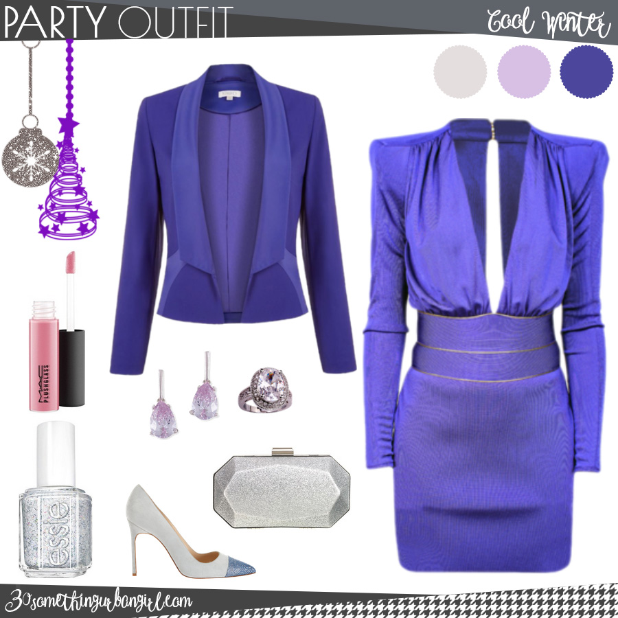 Chic Christmas party outfit for Cool Winter seasonal color women