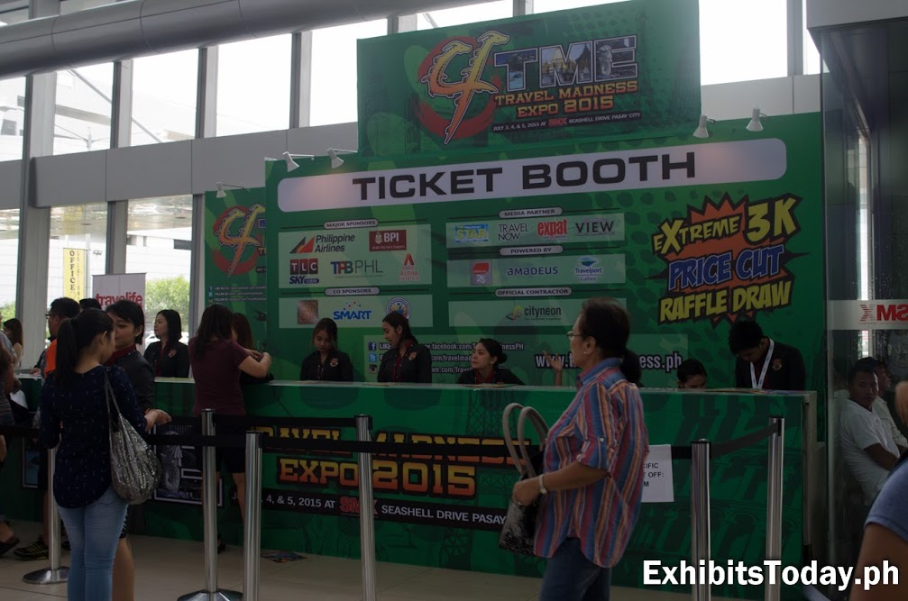 Travel Madness Expo 2015 Ticket Booth