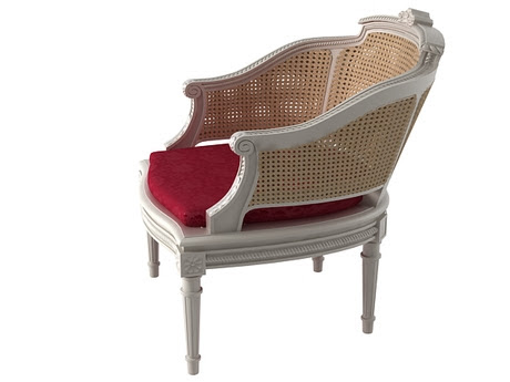 [3Dsmax] 3D model free - French 19th c. Chaise B