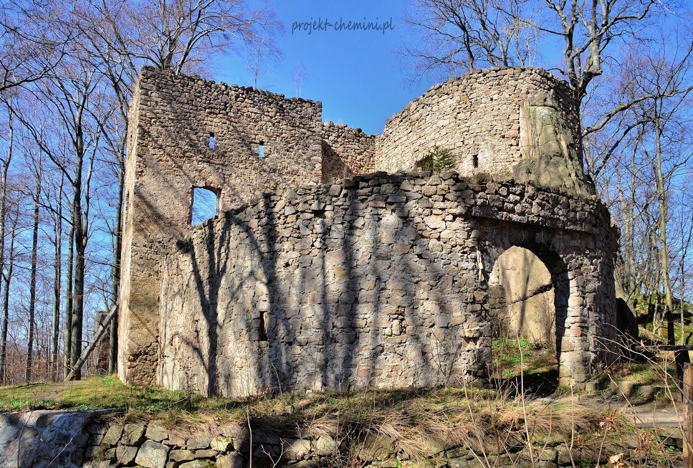 Zamek Bolczów w Janowicach Wielkich