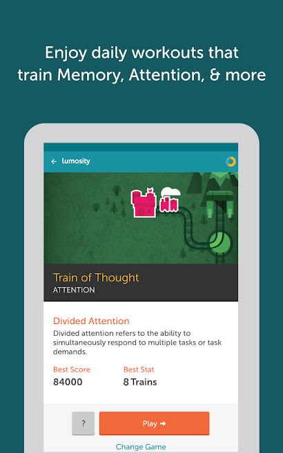Lumosity Android Brain Training Application