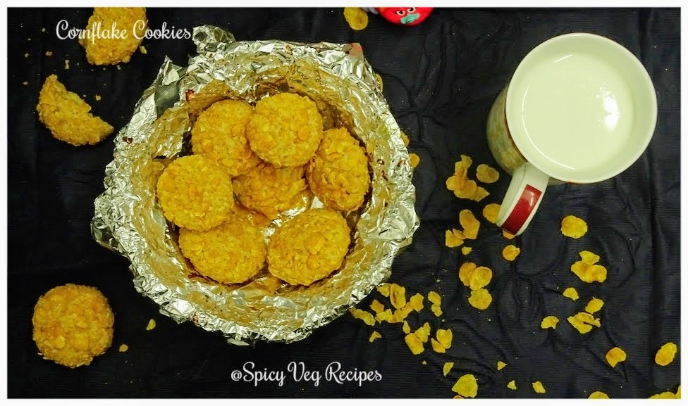 Egg less -Whole-Wheat-Cornflakes-cookies- recipe-veg
