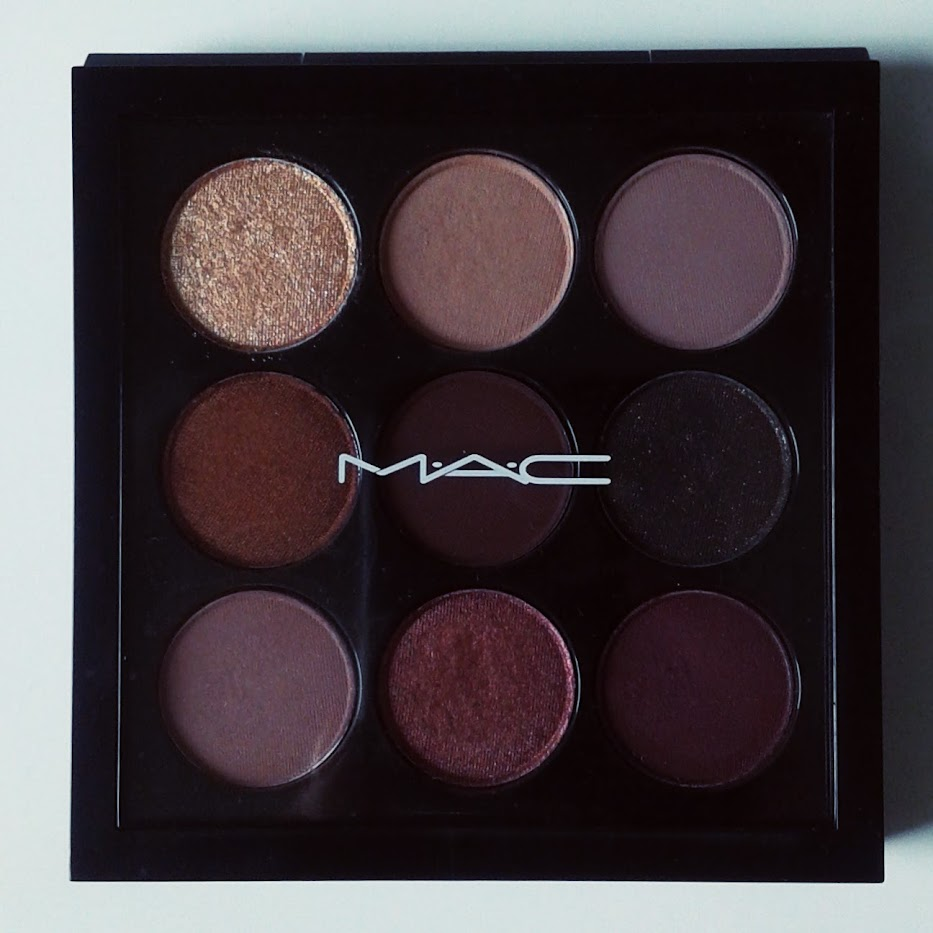 a picture of mac burgundy times nine palette