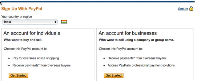 Create PayPal Account : eAskme
