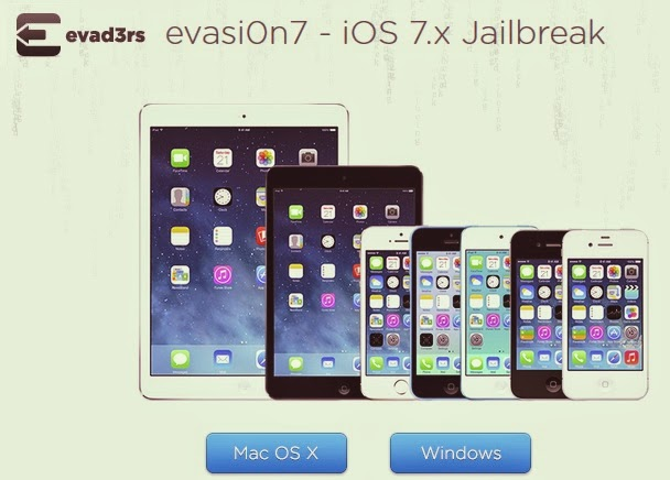 Evasi0n7 to Jailbreak iOS 7 to iOS 7.0.4 on iPhone and iPad