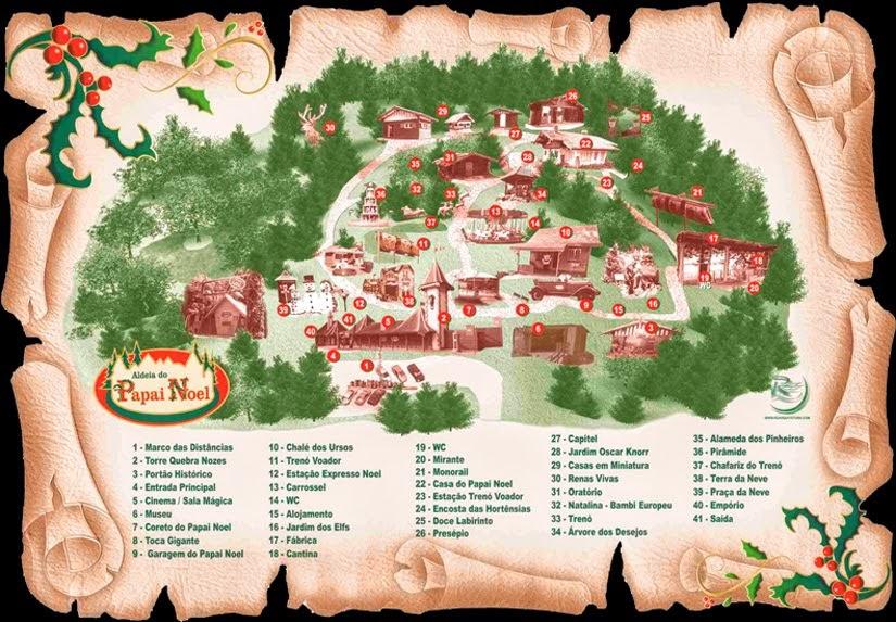 Mapa extraído do Site da Aldeia do Papai Noel de Gramado