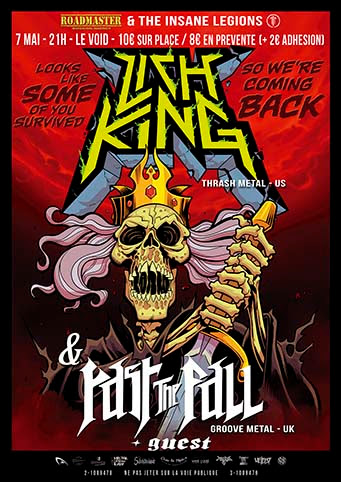Lich King + Past The Fall + Silver Machine @Le Void, Bordeaux 07/05/2017