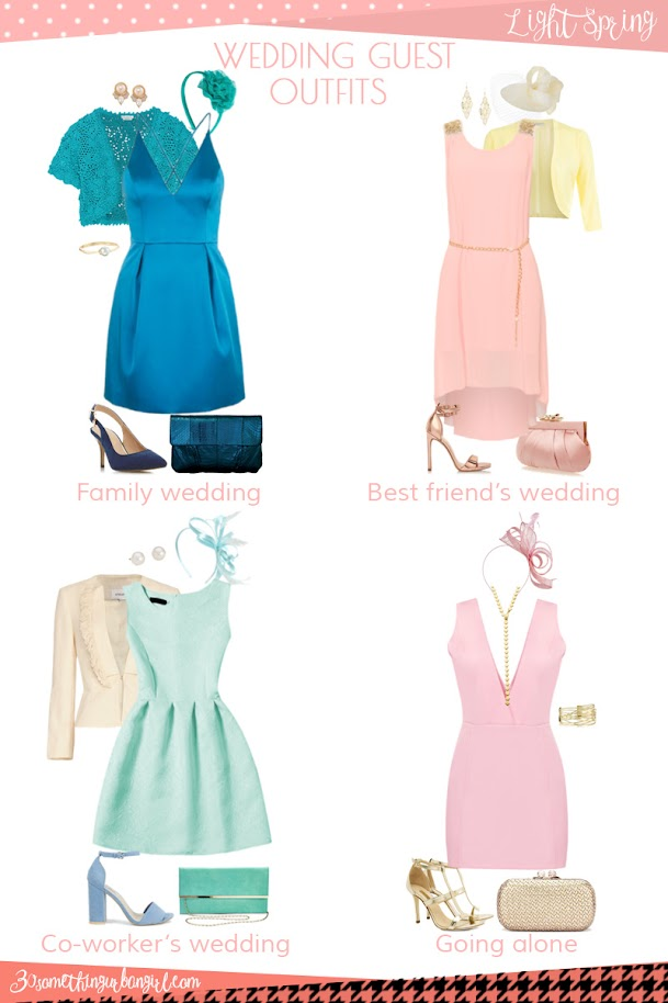 Wedding guest outfit ideas for Light Spring women by 30somethingurbangirl.com // Are you invited to a family, your best friend's or your co-worker's wedding, maybe going solo to a nuptials? Find pretty outfit ideas and look fabulous!