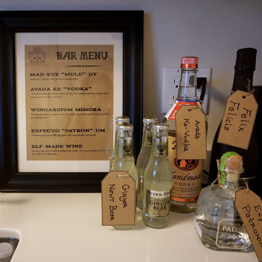 harry potter themed bachelorette party universal studios wizarding world of harry potter inspired bar menu