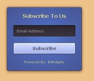 3D Email Subscription Box Widget For Blogger : eAskme