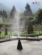 Beautiful fountains in the garden