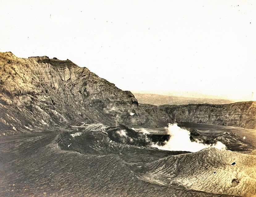 Crater of Taal Volcano, Batangas.  Image credit:  University of Michigan Digital Collections.