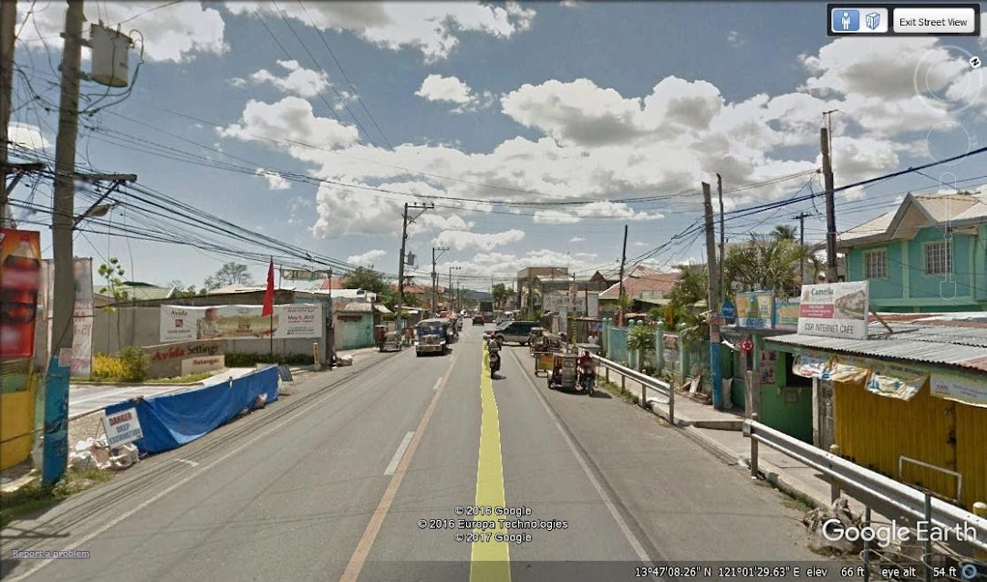 A street in San Pascual, Batangas.  Image source:  Google Earth Street View.