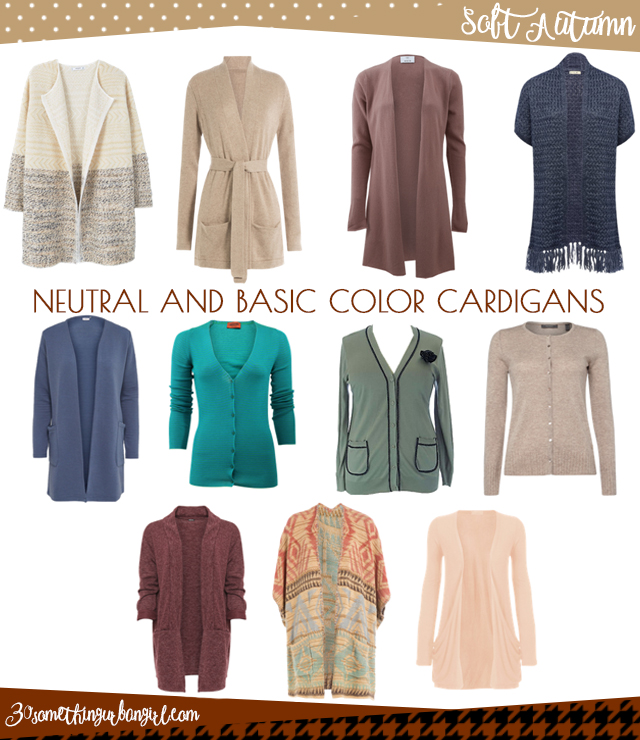 Wardrobe Essential: Neutral and basic color cardigans for Soft Autumn  women by 30somethingurbangirl.com