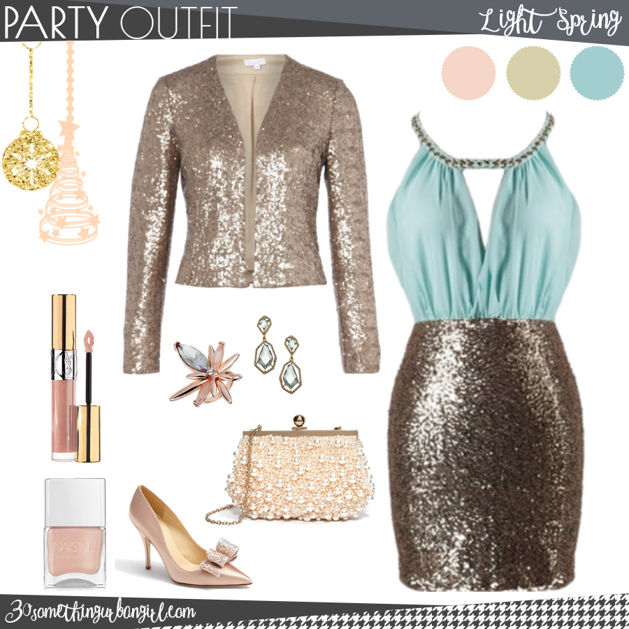 Chic Christmas party outfit for Light Spring seasonal color women