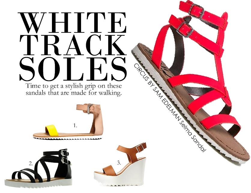 Get It Now: White Track Sole Sandals