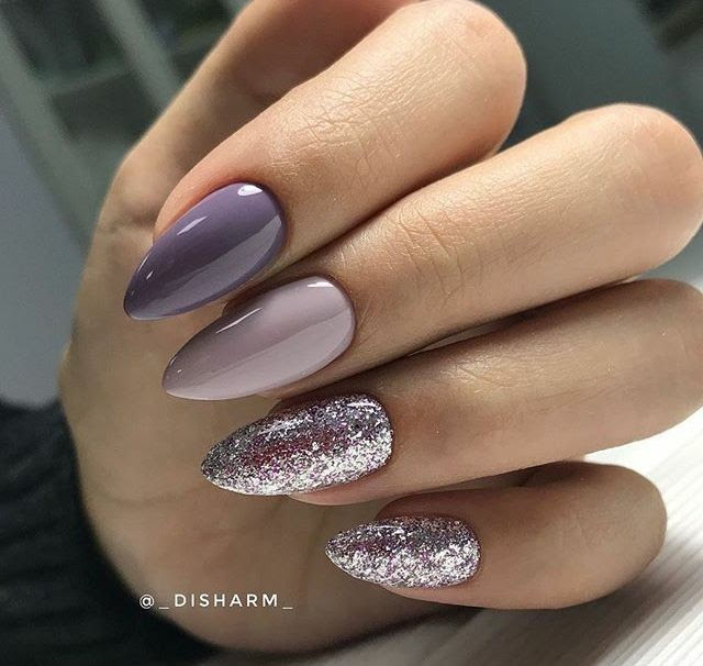 Nails, Nail Art, Nail Design, Purple Nails, Wedding Nails