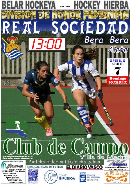 Cartel hockey 2019-04-07 Real Sociedad - CLUB de CAMPO