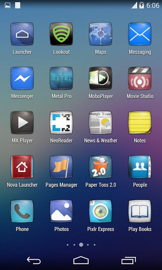 Purity(APEX NOVA KITKAT THEME) v1.0.1 APK Personalization Apps Free Download