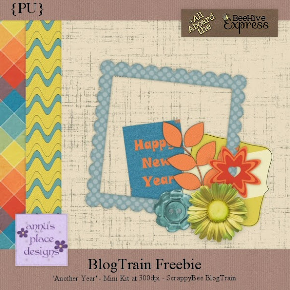 Another Year ScrappyBee Blog Train Freebie