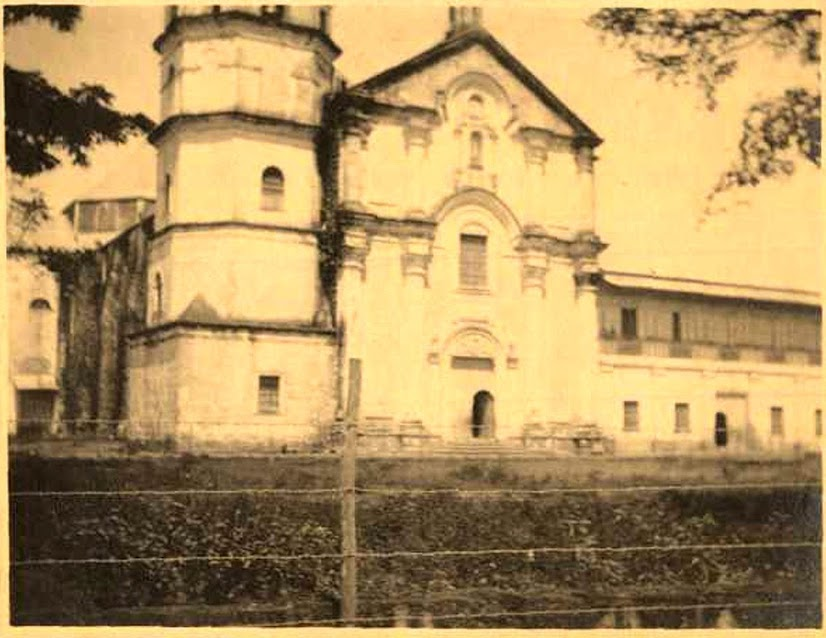 The San Sebastian Cathedral during the American colonial period.  From the Luther Parker Collection of the National Library of the Philippines Digital Collections.