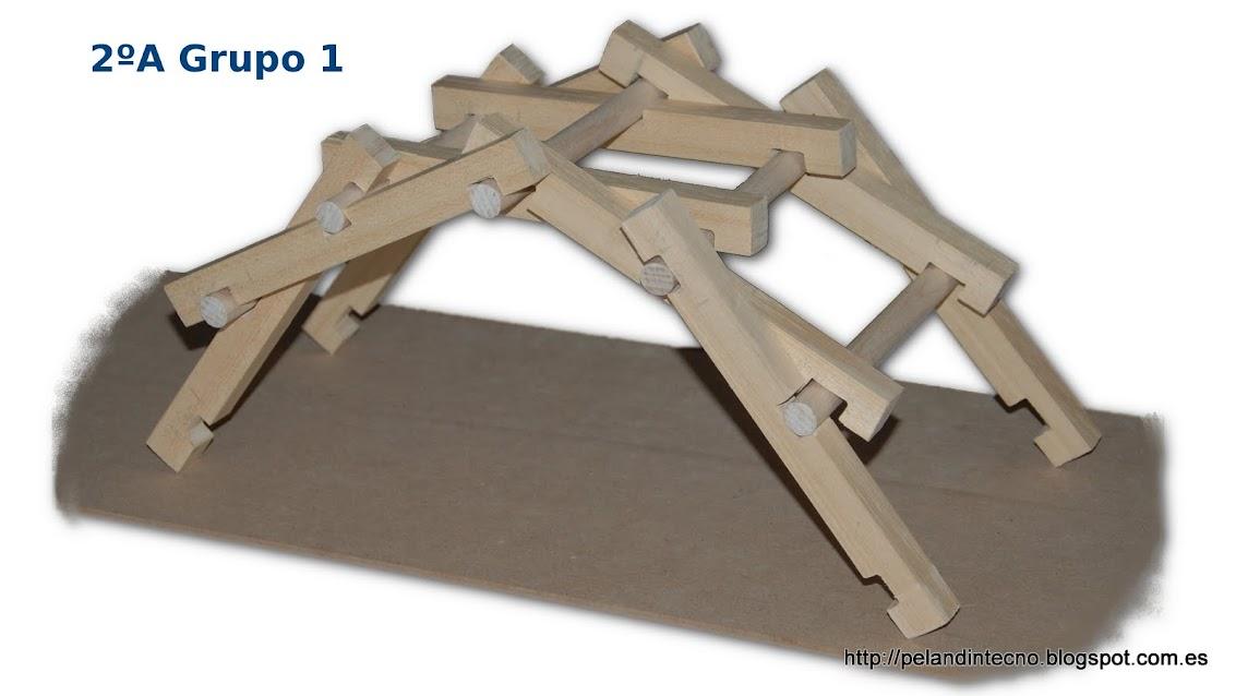 Selfstanding Bridge Leonardo da vinci