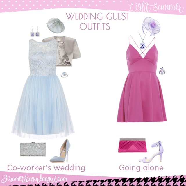Wedding guest outfit ideas for Light Summer women by 30somethingurbangirl.com // Are you invited to a your co-worker's wedding or maybe going solo to a nuptials? Find pretty outfit ideas and look fabulous!