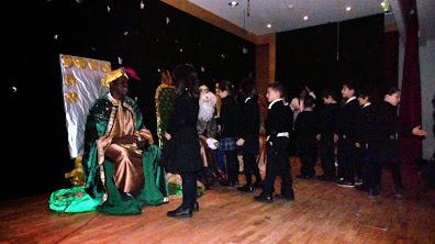 Reyes Magos y Banda de Música de la Escuela Naval Militar de Marín