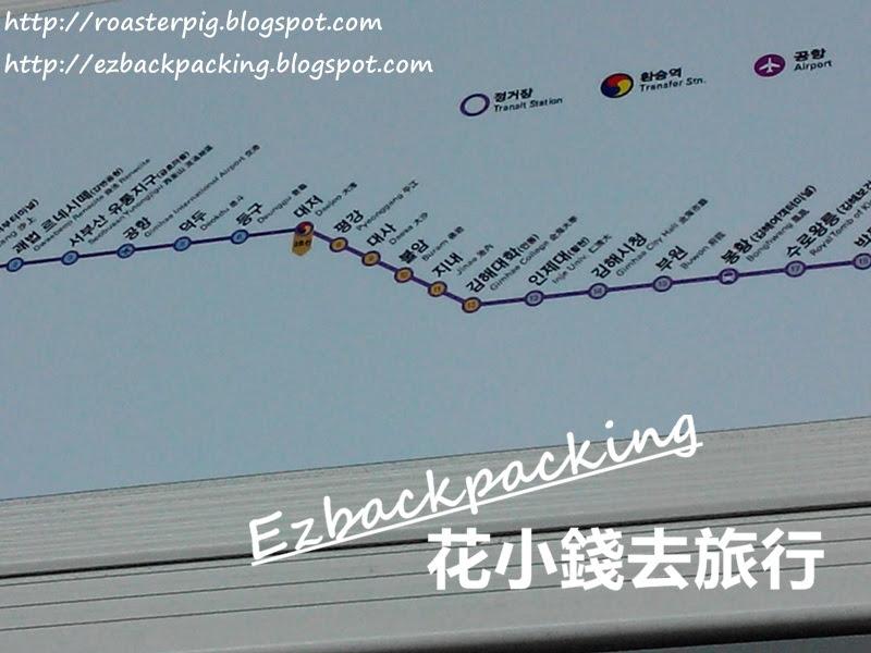 釜山金海輕軌路線圖