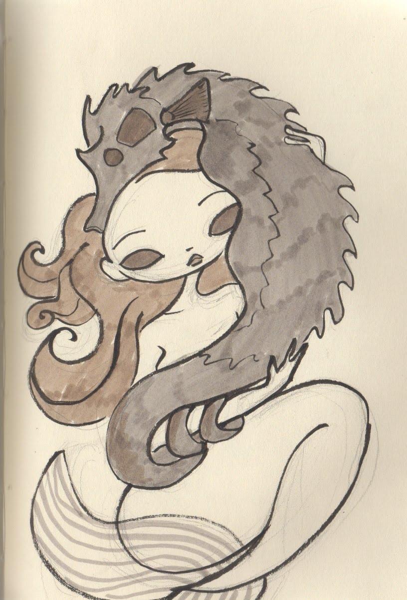 *daisy's drawings: Seahorse mermaid cleaned up