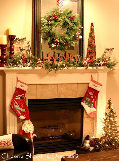 Mantel Christmas Decorating Ideas   Dream House Experience