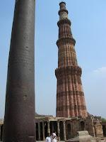 Minarete de Qutab Minar, nueva delhi, india, vuelta al mundo, round the world, información viajes, consejos, fotos, guía, diario, excursiones