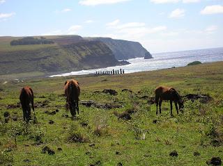 Caballos salvajes, Isla de Pascua, Easter Island, vuelta al mundo, round the world, La vuelta al mundo de Asun y Ricardo