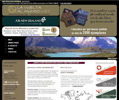 portada, entrevista la vuelt al mundo.net, blog la vuelta al mundo.net,vuelta al mundo, round the world, información viajes, consejos, fotos, guía, diario, excursiones